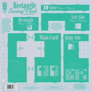 """Hot Off The Press Template 12"""" x 12"""" Rectangle Swing Card"""