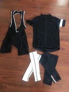 Rapha Cycling Black Bibs XL , Rapha Zip Up Jersey, XL Rapha Arm & Leg Warmers