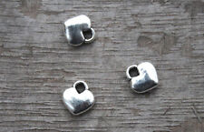 60pcs-- Tiny Heart charms Tibetan silver Mini Heart charm pendants 8x8mm