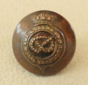STAFFORDSHIRE YEOMANRY Button, QUEEN'S OWN ROYAL REGt_16mm FIRMIN_Victorian, QVC