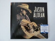 Jason Aldean Rearview Autographed Signed LP Album Record Beckett BAS Certified