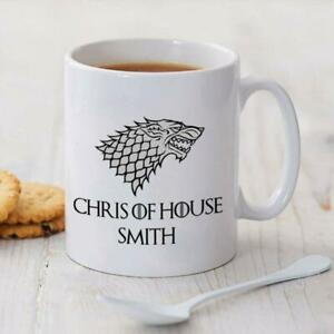 Game of Thrones Personalise Your Name & House Coffee Mug Gift 11oz Ceramic