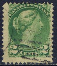Canada #36(9) 1872 2 cent green small Queen Victoria Used