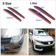 4Pcs Car SUV Bumper Lip Splitter Fins Spoiler Edge Corner Anti-Scratch Protector