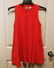 Vintage GOTTEX 80's Orange High Neck Swing Dress Tunic Size Small