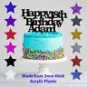 Personalised Happy 18th Birthday Acrylic Glitter Cake Topper Any Name Any Age