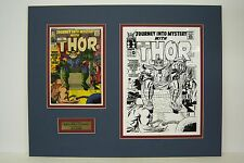 Original Production Art Cover THOR #122, JACK KIRBY, matted w/comic book, ODIN