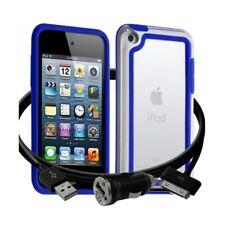 Housse Etui Coque Bumper bleu pour Apple iPod Touch 4G + chargeur auto
