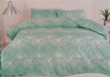 QUEEN  ' NISA  ' QUILT COVER SET. GREEN AND WHITE MOSAIC CIRCLE PRINT