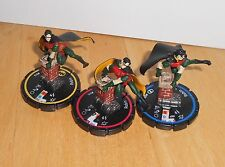HERO CLIX - DC ICONS - ROBIN  - FIGURE SET   R,E,V  - WITHOUT CARDS