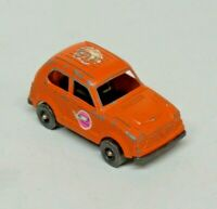 "Vintage Tootsie Toy Honda Civic Orange Diecast Made in U.S.A. 3"" Long"