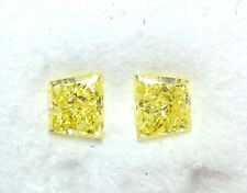 0.50ct Natural Loose Fancy Intense Yellow Diamonds Matching Pair Sides Stones