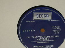 "LIEUTENANT PIGEON *RARE 7"" 45 ' I'LL TAKE YOU HOME AGAIN, KATHLEEN ' 1974 VGC+"