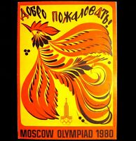 Poster Original USSR Soviet Russia Moscow 1980 Olympic Games