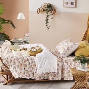 Adairs Kids Follow Your Rainbow Organic Cotton Desert Quilt Cover Set (DOUBLE)