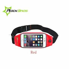 "RockBros Cycling Bike Sports Running Bag Phone Holder Waist Bag 5.8"" Red New"