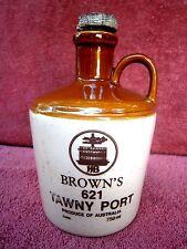 BROWN'S  621 TAWNY PORT STONE WARE  JAR [EMPTY]