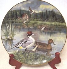 """Knowles Collector Plates """"The Pintail"""" by Bart Jerner orig. box Coa first issue"""