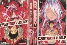 CRIMSON WOLF tomes 1 à 4 Kishimoto SERIE COMPLETE manga shonen