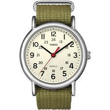 TIMEX WEEKENDER SLIP THRU OLIVE GREEN WATCH