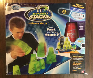 Speed Stacks Stack Pack Set w Mat Timer Carrying Case DVD 12 RED Cups NEW