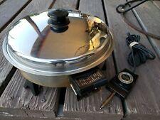 "Saladmaster 7817 11"" Electric Oil Core Skillet Vapo Lid"