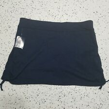 Chaps NWT Women's Skort ~ Sz L ~ Navy Blue ~ Above Knee ~ Stretchy