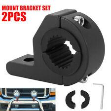 2X 1inch MOUNT BRACKET TUBE CLAMPS FOR LED LIGHT BAR OFF ROAD BULL BAR HID ATV