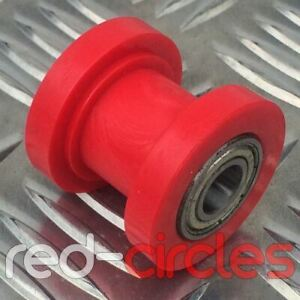 10mm RED PIT DIRT BIKE DRIVE CHAIN ROLLER WHEEL GUIDE 50cc 110cc 125cc PITBIKE