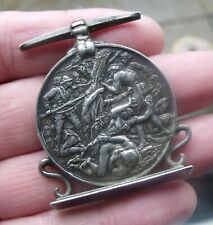 More details for original victorian east and west africa medal, adapted on stand, erased naming.