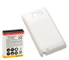 Long Life 5000mAh Extended Battery + Cover for Samsung Galaxy Note 1 i9220 White