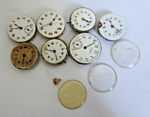 Job Lot of Vintage Hand Winding Mechanical Watch Movements - Waltham etc