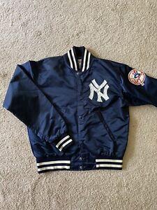 Vintage New York Yankees Satin Starter Jacket M 80s 90s Windbreaker