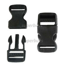 25mm Black Plastic Side Quick Release Buckle Clip – Cord Strap Backpack Bag RE