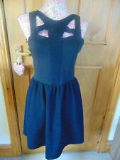 Topshop Black Dress sleeveless mini short going out dress Size 12 Used