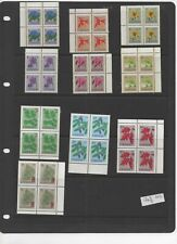 Canada -  1977-1986 definitive postage stamps MNH blocks of 4 ref 40