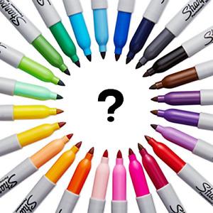 Original Coloured Black Sharpie Fine Point Tip Permanent Marker Pens 1,2,5,10,12