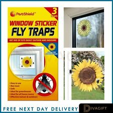 3 Fly Insect Catcher Killer Trap Strip Pest Bug Wasp Ants Window Office Home UK