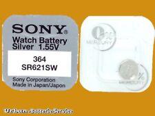 20 x Sony V364 364 Knopfzelle SR621SW SR60 SR621 AG1 Silver 1.55V Uhrbatterien