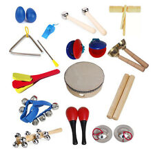 14 types Orff Musical Instruments Kids Preschool Early Education Toys Kit