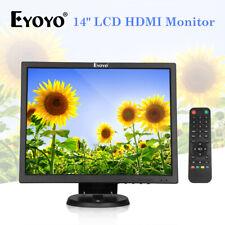 Eyoyo 14 Inch TFT HDMI Monitor VGA BNC AV USB Input Security For Laptop PC