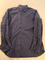 Men Faconnable Dress Shirt Blue/Multi-Colored Plaid pattern. Size Large