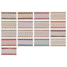 Eyelet Knitting in Lace Trim 30mm Wide a Choice of 26 Colours and 7 Lengths