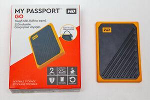 WD My Passport Go Portable 2 TB SSD, bernsteinrand, Festplatte
