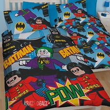 Lego Batman Dynamic Single Duvet Cover Bed Set New Gift Official Joker Robin