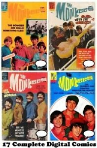 THE MONKEES Dell Comics Complete Run #1-17 Digital DVD 1967