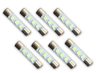 8 WARM WHITE 8V LED Lamp Fuse-Type Bulbs for Pioneer SX-939, SX-1010 - 8WW