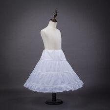 Dressever Girls' Petticoat Half Slip Flower Girl Crinoline Skirt Whiet US STOCK