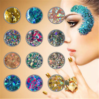 10g Mixed Holographic Flake Chunky Festival Glitter Nail Face Tattoo Body Trendy