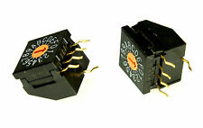 2pcs Nihon Right Angle Rotary DIP Switch 16 position turn 100mA 5V DC